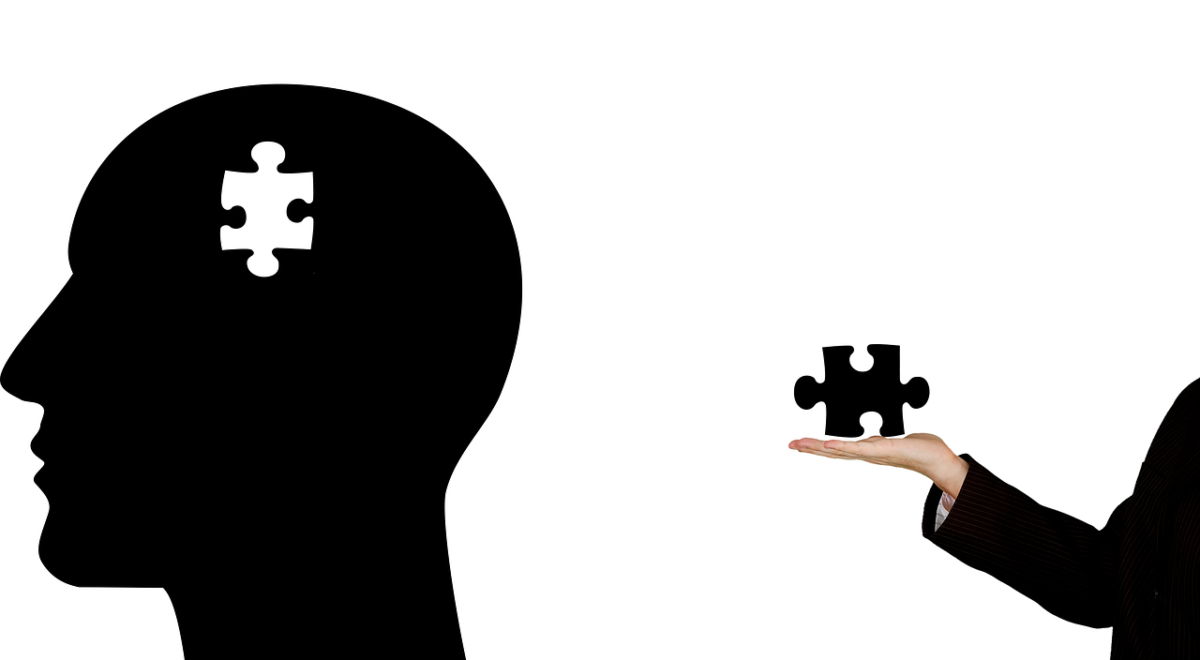 Mental health graphic with puzzle piece