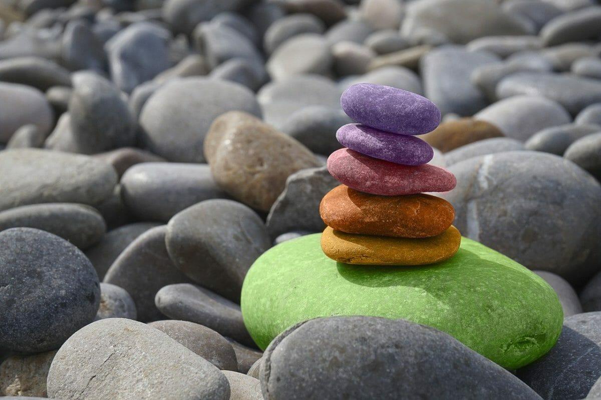 balancing meditation stones