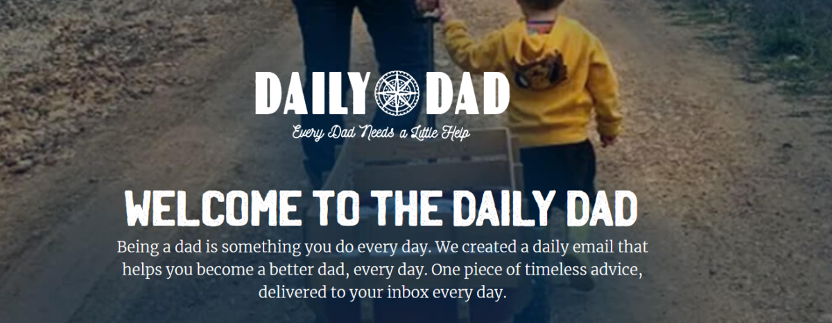 Screens hot of the Daily Dad header